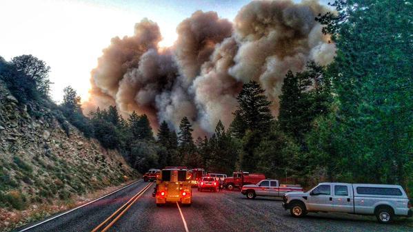 Incendio En Las Montañas de San Bernardino